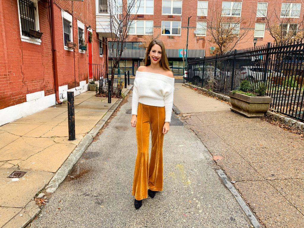 9adab9e17 Rock These Mustard High Waisted Velvet Flare Bell Bottom Pants ...
