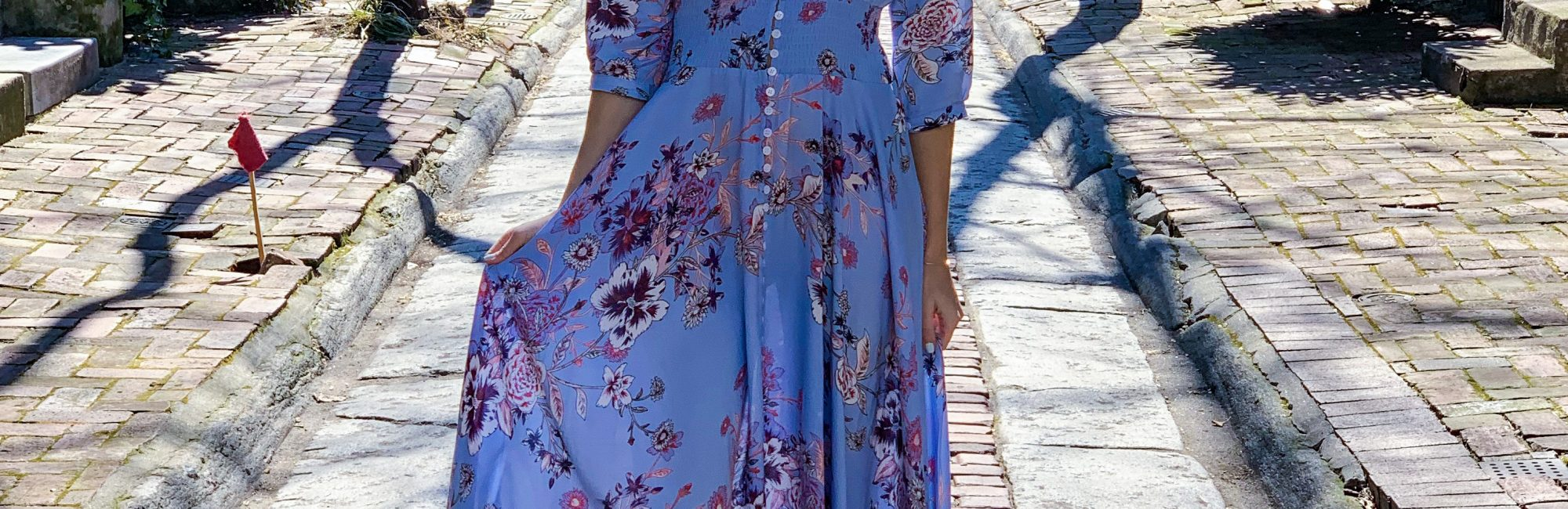 Pretty Floral Maxi Dress for Spring