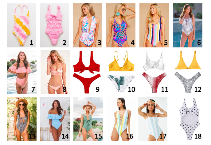 Cute and Affordable Bathing Suits