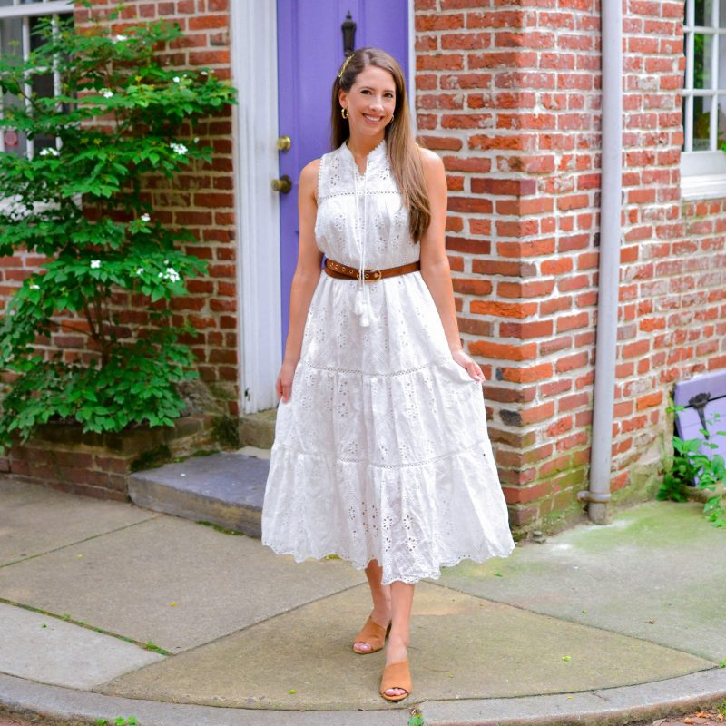 Feeling Boho Chic in my New Embroidered Eyelet Maxi Dress