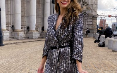 NYFW-outfit-sequin-blazer-dress