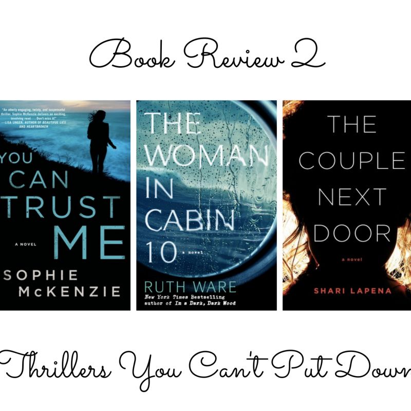Book Review 2: Thrillers You Can't Put Down